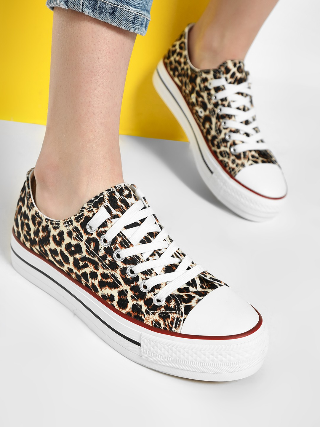 No Doubt Brown Casual Lace Up Sneakers 1