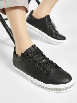 No Doubt Crystal Embellished Sole Sneakers