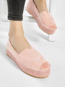 No Doubt Suede Stacked Espadrilles