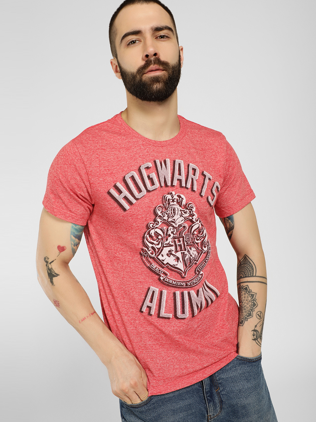 Free Authority Red Harry Potter Knitted T-Shirt 1
