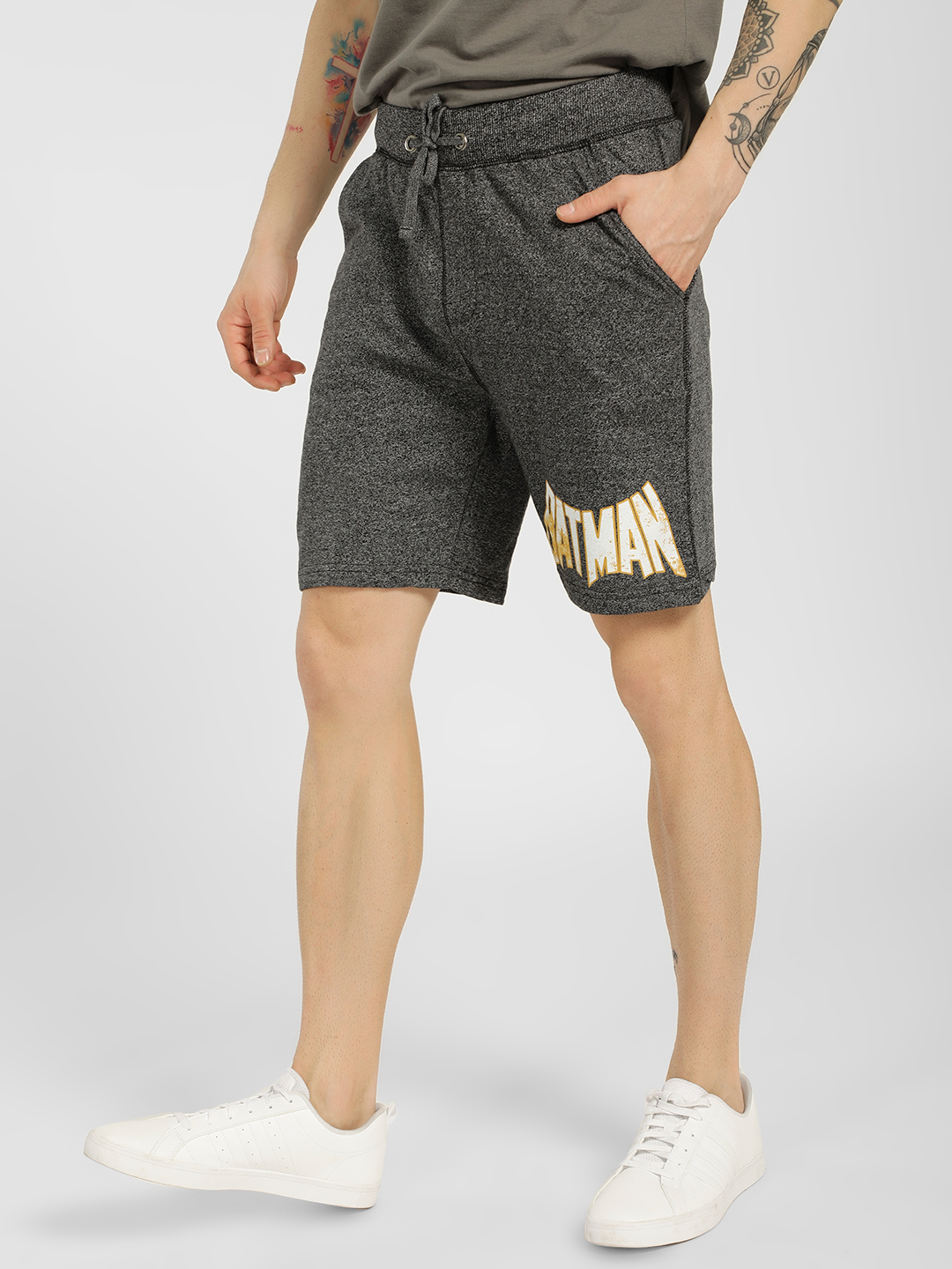 Free Authority Black Batman Textured Knit Shorts 1