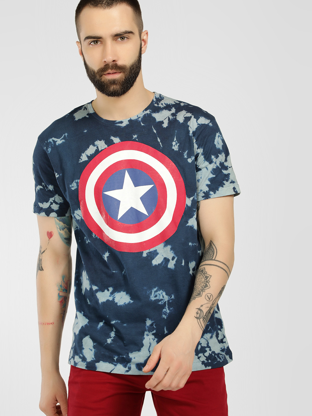 Free Authority Blue Avengers Tie & Dye T-Shirt 1