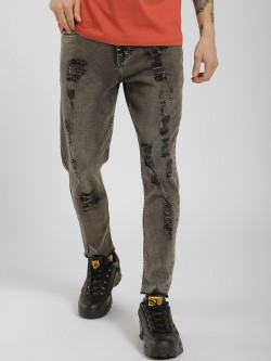 K Denim KOOVS Washed Extreme Distressed Slim Jeans