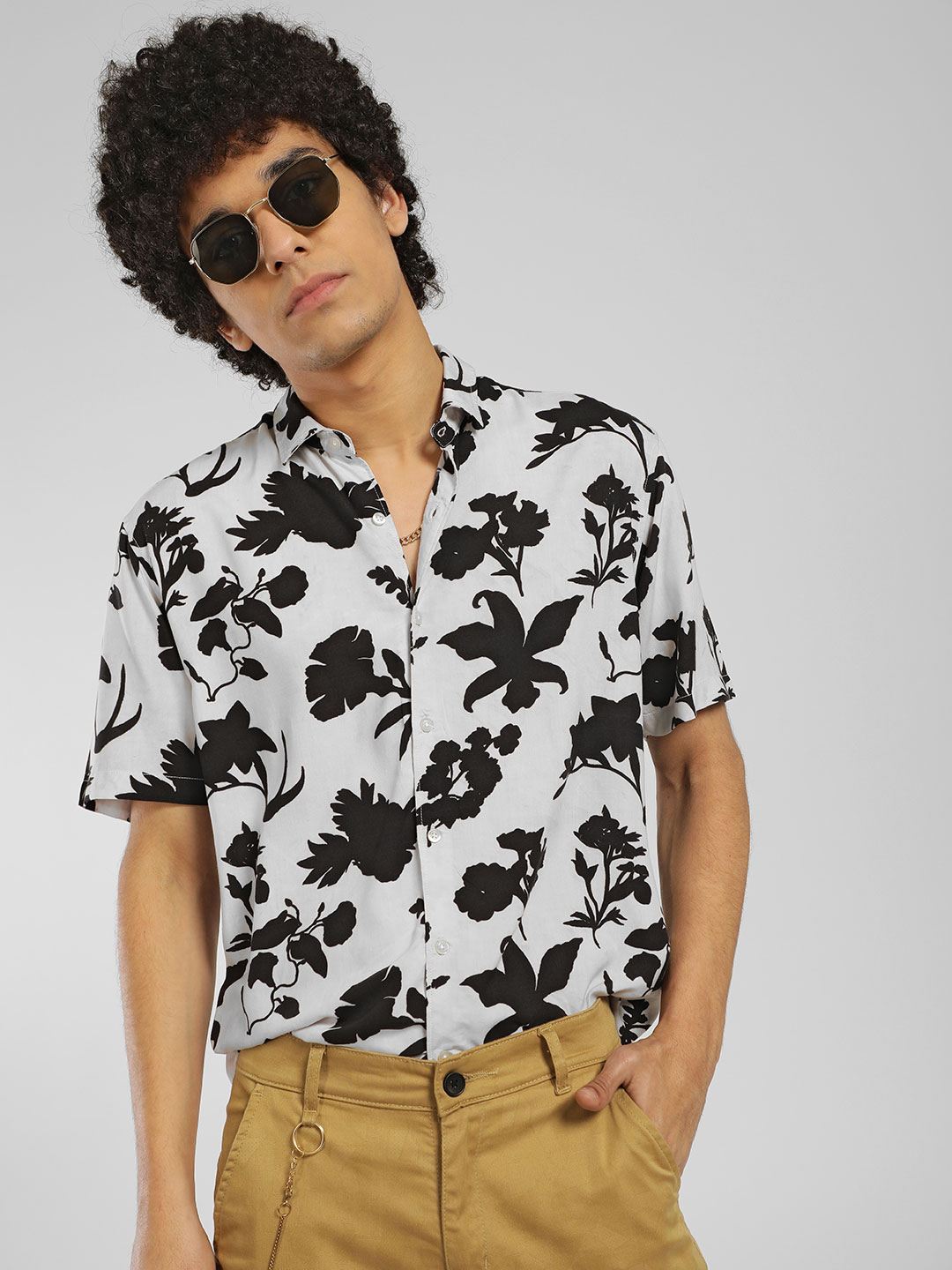 KOOVS Multi Large Floral Print Casual Shirt 1