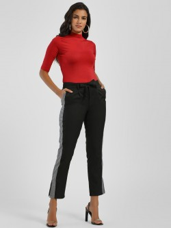 PostFold Side Tape Cropped Trousers