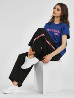 Rena Love Side Embroidered Tape Palazzo Pants