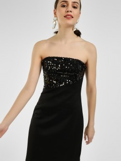 KOOVS Sequin Embellished Bandeau Dress