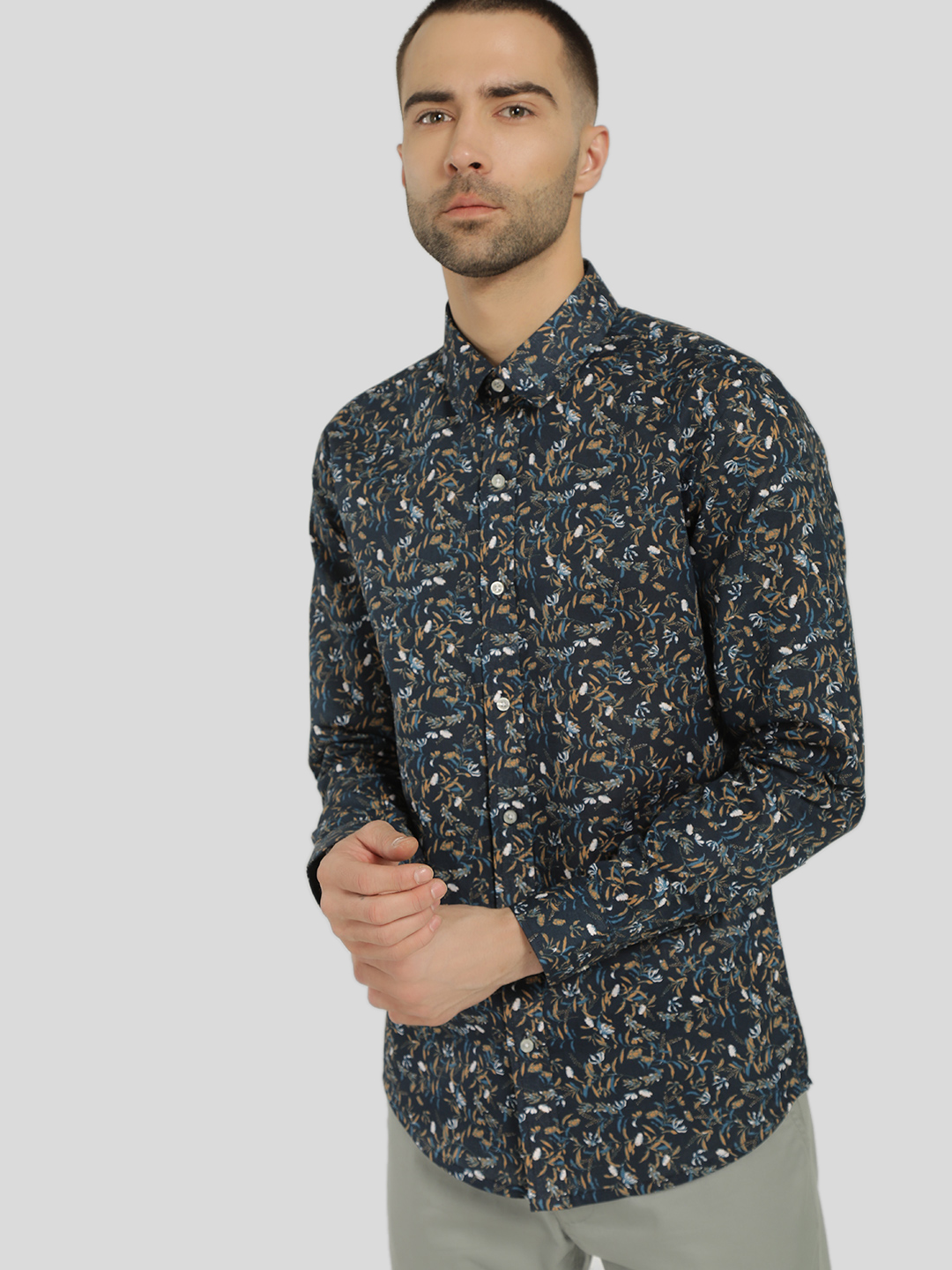 KOOVS Multi Floral Print Smart Shirt 1