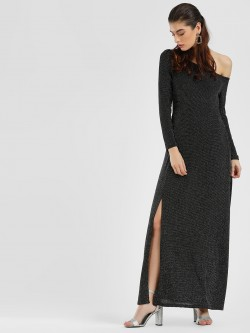 Cover Story One Shoulder Maxi Dress