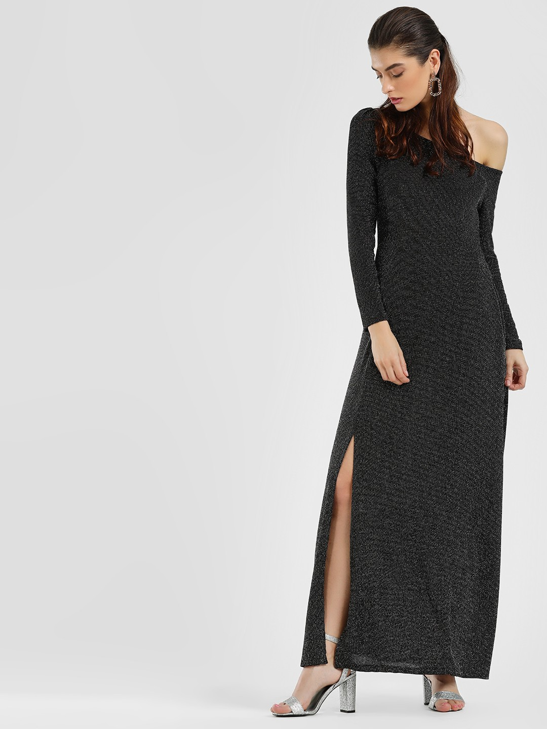 Cover Story Black One Shoulder Maxi Dress 1