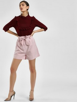 Cover Story Front Tie-Up Paperbag Shorts