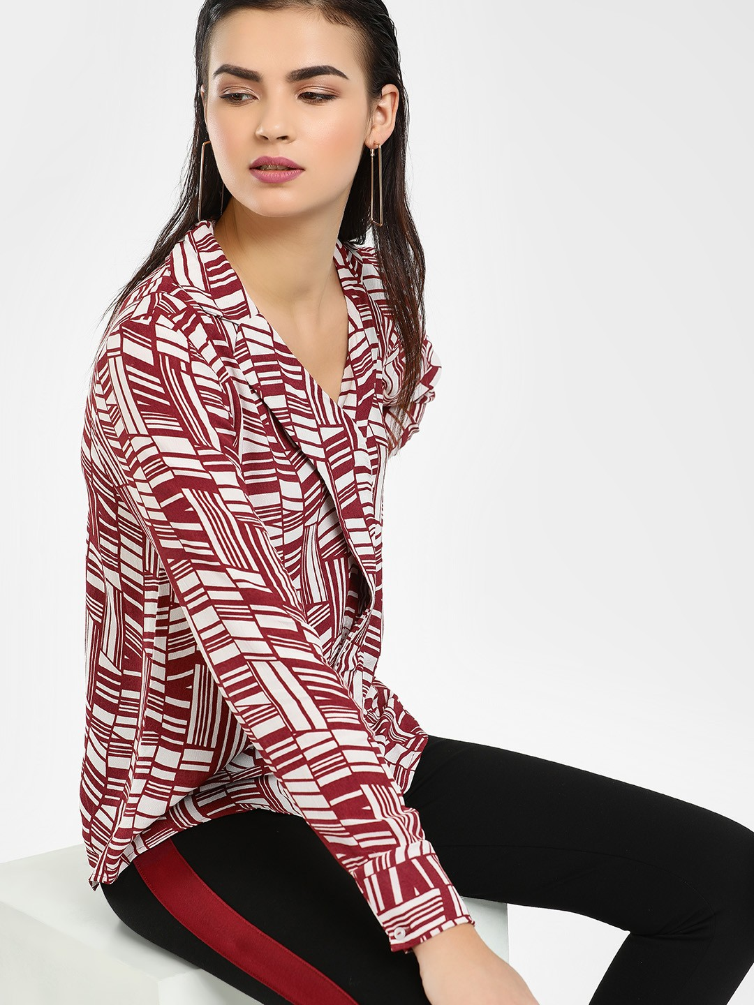 Cover Story Muliti Abstract Print Casual Shirt 1