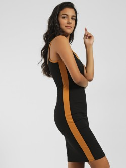 Iris Contrast Side Stripe Bodycon Dress