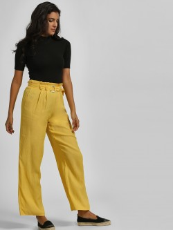 Iris High Waist Paper Bag Trousers