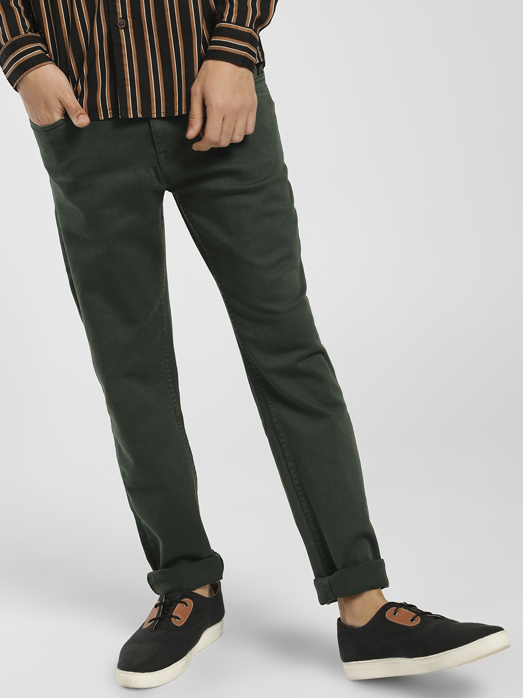 Blue Saint Green Overdyed Slim Fit Jeans 1