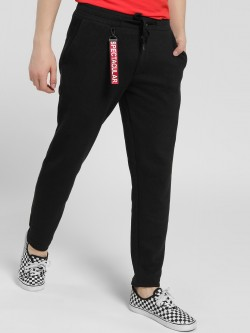 Deezeno Knitted Snap Tag Detail Trousers