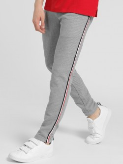 Deezeno Contrast Side Tape Knitted Trousers