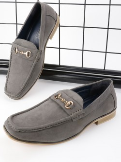 Bolt Of The Good Stuff Suede Horsebit Driver Loafers