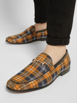 Bolt Of The Good Stuff Tartan Check Horsebit Loafers