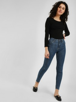 LOVEGEN Mid Wash High-Waist Skinny Jeans