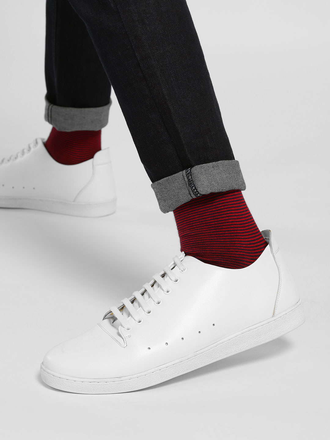 Kindred White Side Punches Sneakers 1