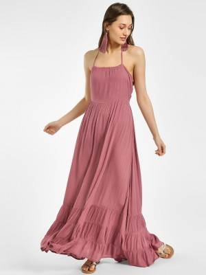 THE GUD LOOK Halter Neck Maxi ...