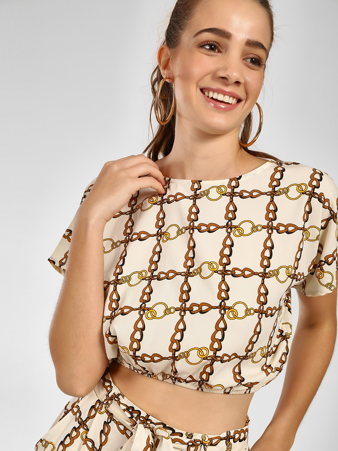 The Gud Look Print Chain Print Crop Top 1
