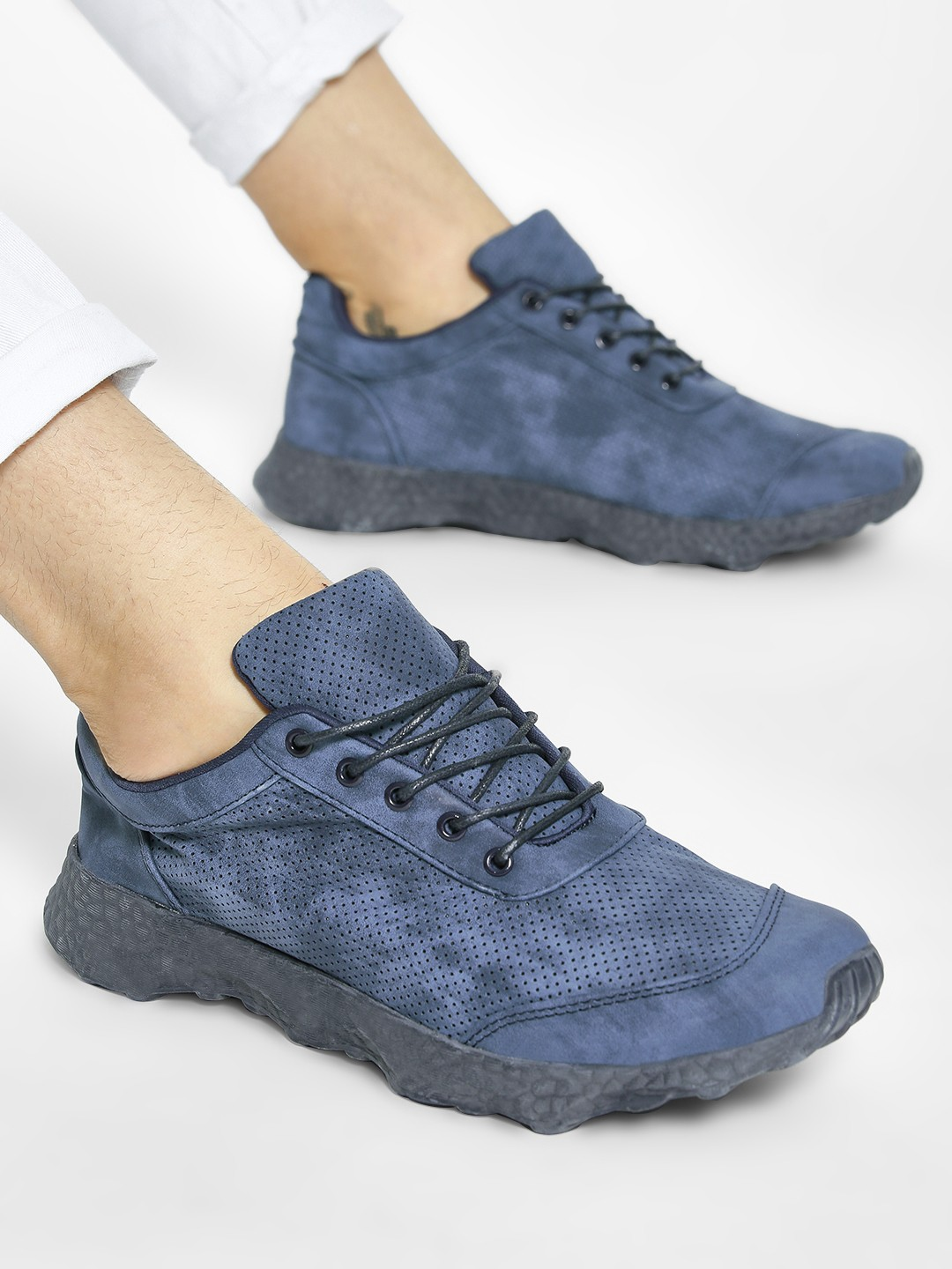 Kindred Blue Pinhole Chunky Sole Sneakers 1