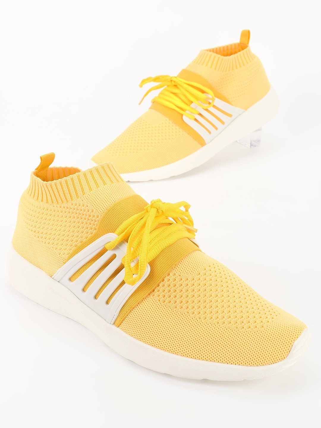 Kindred Yellow Knitted Mesh Sockliner Shoes 1