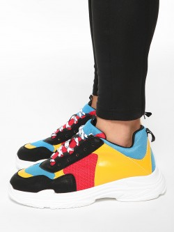 Kindred Colour Block Panelled Trainers