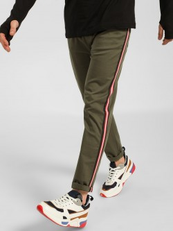 SKULT By Shahid Kapoor Side Tape Slim Fit Trousers