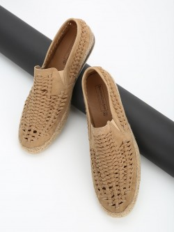 Bolt Of The Good Stuff Suede Weave Espadrille Loafers