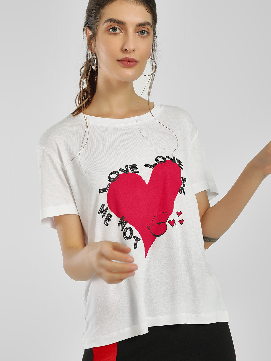 LOVEGEN White Placement Slogan Print T-Shirt 1