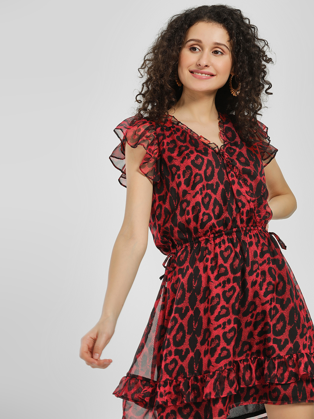 LOVEGEN Print Leopard Print Shift Dress 1
