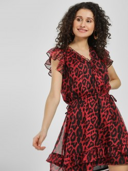 LOVEGEN Leopard Print Shift Dress