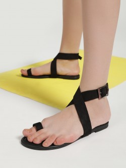 CAi Criss-Cross Tie Up Flat Sandals