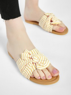 CAi Stripe Bow Detail Slides