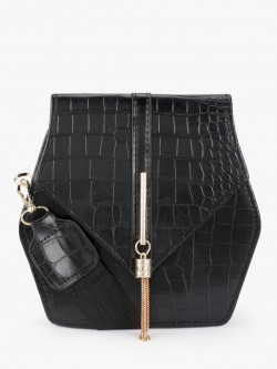 Style Fiesta Crocskin Hexagonal Sling Bag
