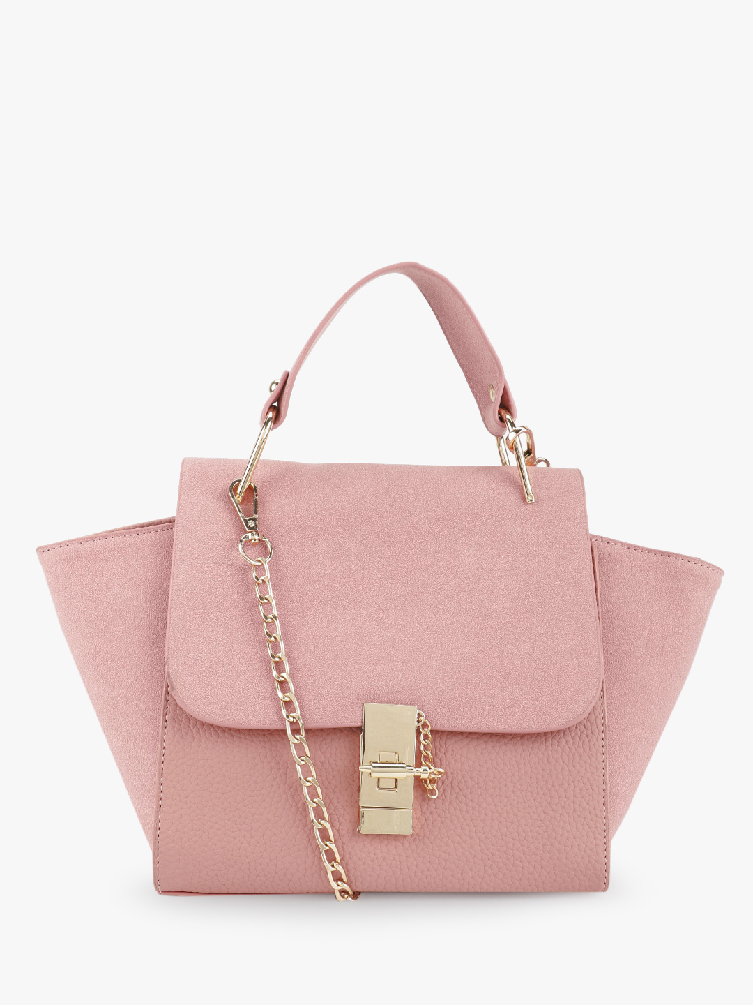 Style Fiesta Pink Two-Tone Satchel Bag 1