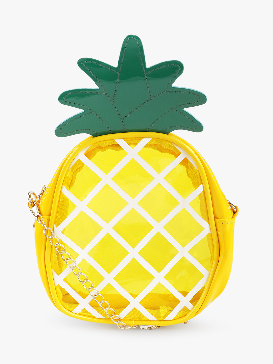 Style Fiesta Yellow Pineapple Shaped Sling Bag 1