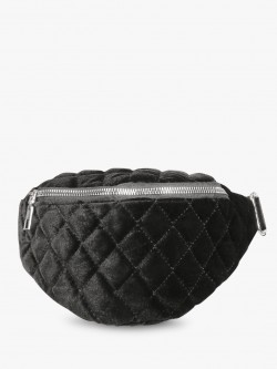 Style Fiesta Velour Quilted Bum Bag