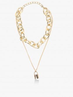 Style Fiesta Layered Heavy Chain Necklace