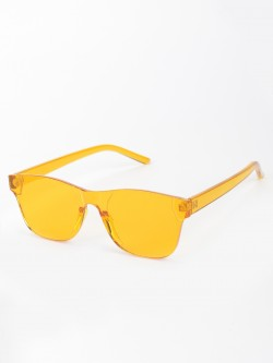 Style Fiesta Transparent Lens Retro Sunglasses