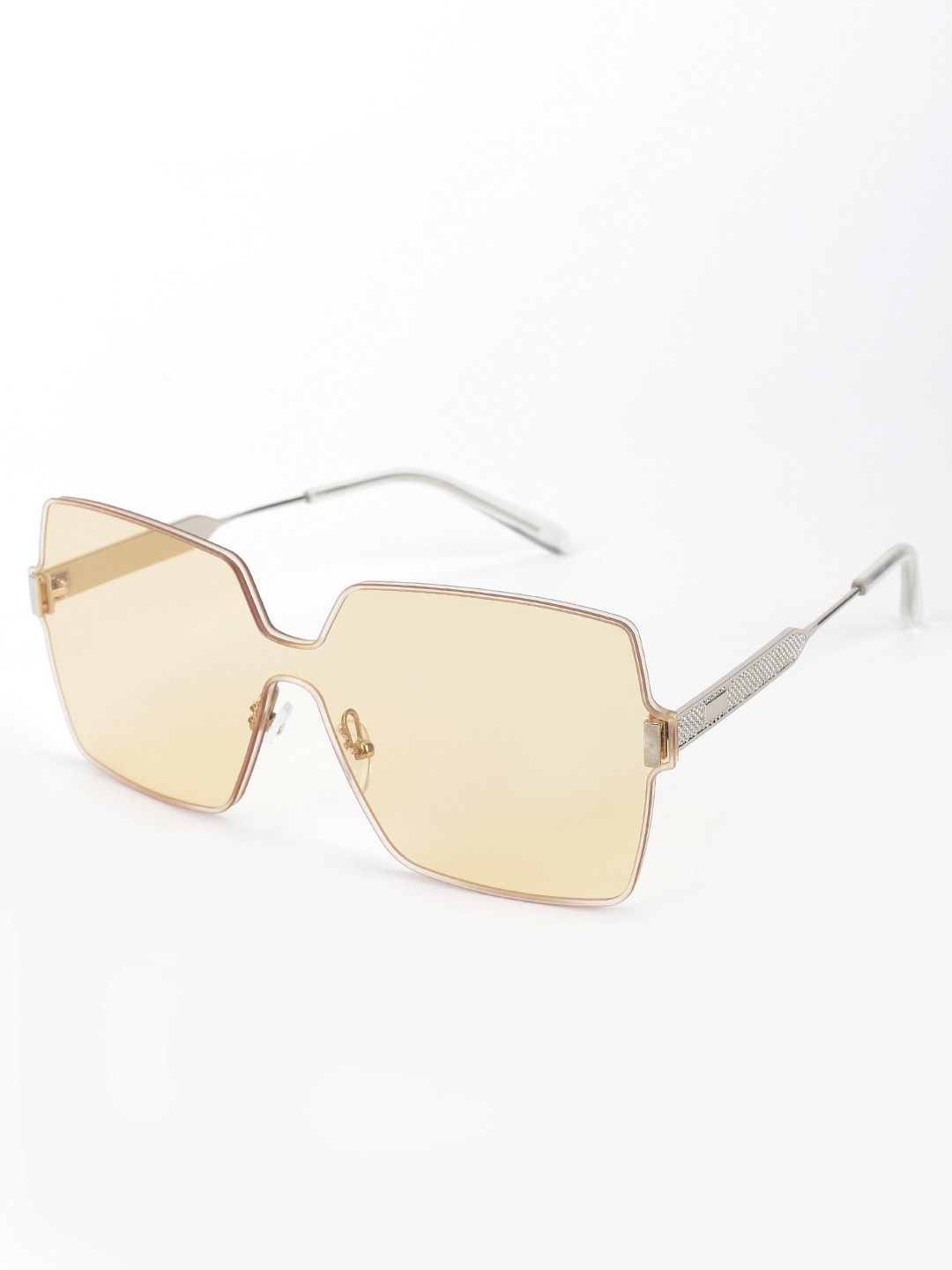 Style Fiesta Yellow Coloured Lens Oversized Retro Sunglasses 1