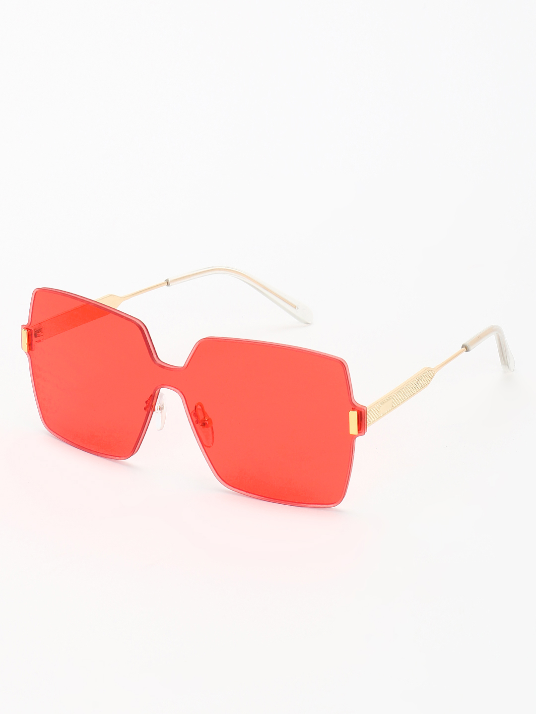 Style Fiesta Red Coloured Lens Oversized Retro Sunglasses 1