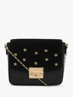 Gusto Star Embellished Suede Sling Bag