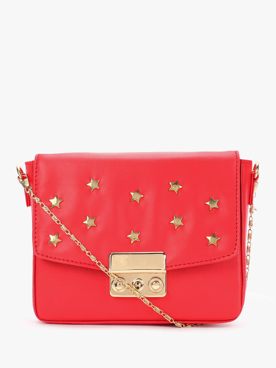 Gusto Red Star Embellished Sling Bag 1