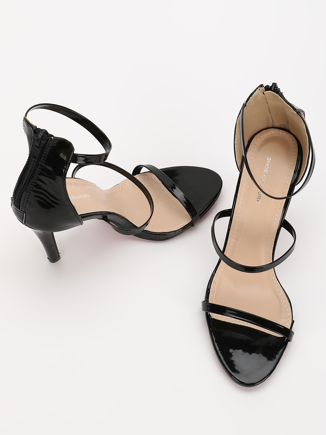 My Foot Couture Black Multi-Strap Heeled Sandals 1
