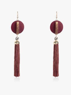 Blueberry Tassel Drop Earrings