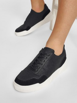 KOOVS Suede Panel High Sole Sneakers